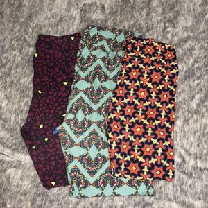 LuLaRoe leggings lot of 3